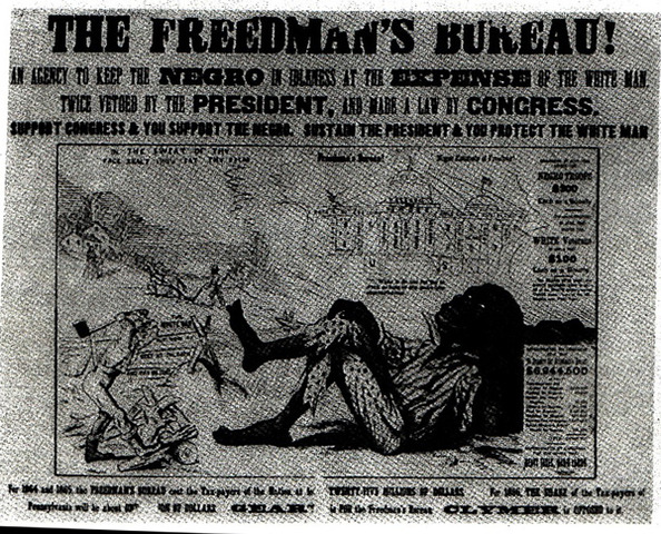 freedmens bureau the civil rights Congress created the freedmen's bureau to economically and politically empower freed people after the civil war.