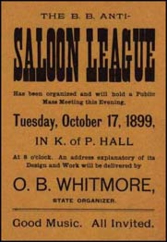 the anti saloon league and prohibition Looking for anti-saloon league find out information about anti-saloon league us organization working for prohibition of the sale of alcoholic liquors founded in.