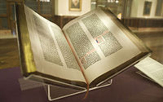 Gutenburg prints first block-printed Bible