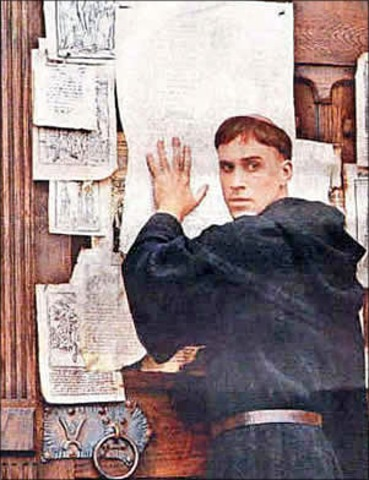 Martin Luther nailed 95 Theses for all to see
