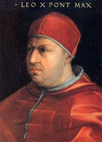 The pope was really pushing the sale of indulgences