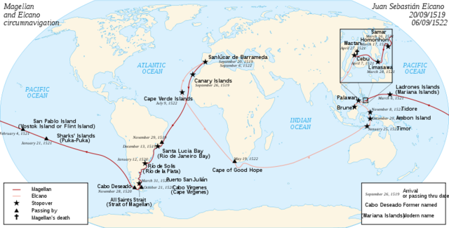 Ferdinand de Magellan was first to sail around the world