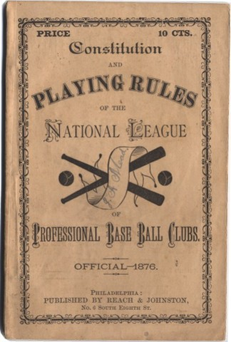 Creation of the National Baseball League