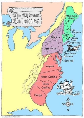 Growth of the 13 Colonies from 1600-1770 (Moore and Hallock ...