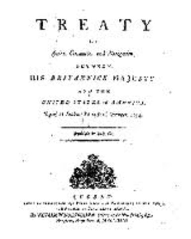 jays treaty pinckneys treaty and the Jay treaty: jay treaty, (nov 19, 1794), agreement that assuaged antagonisms between the united states and great britain, established a base upon which america could build a sound national economy, and assured its commercial prosperity.