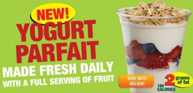 Fruit and Yogurt Parfait introduced
