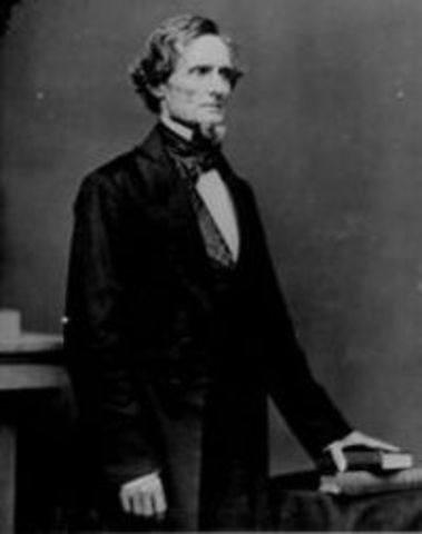 Jefferson Davis is inaugrarted as temporary president of the Confederacy