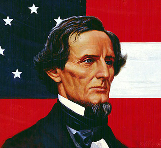 "Jefferson Davis gets elected ""temporary"" president of the Confederacy"