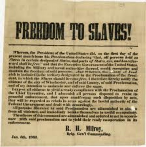 Emancipation Proclamation Announced