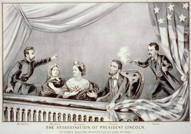 President Abraham Lincoln is shot