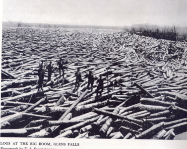 Logging and timber production in the upper hudson for Hudson log