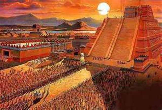 Aztecs founded their city, Tenochtitlan