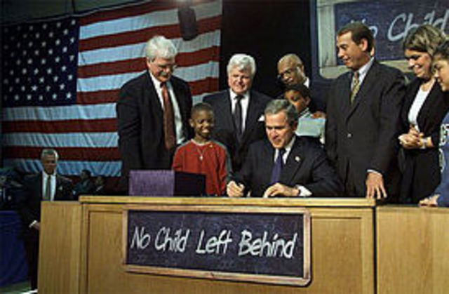 President Bush Signs The No Child Left Behind Act