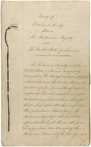 The treaty signed in 1814