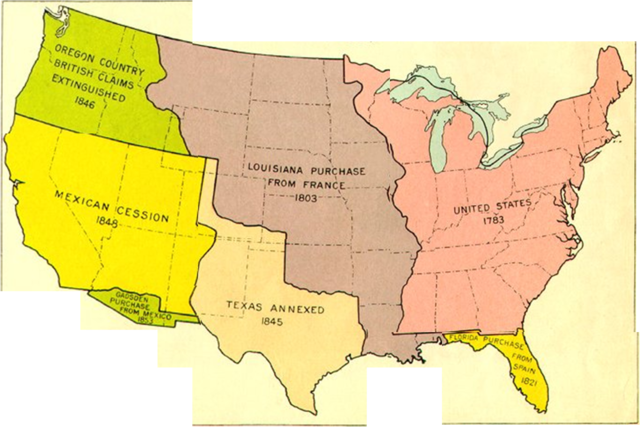 Territorial Expansion United States 1800 1850 Coursework Sample - Us-map-in-1800