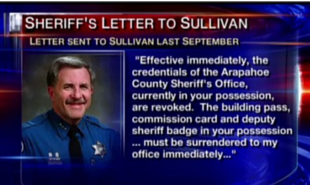 Sullivan allegedly flashes his badge, pretends to be police officer