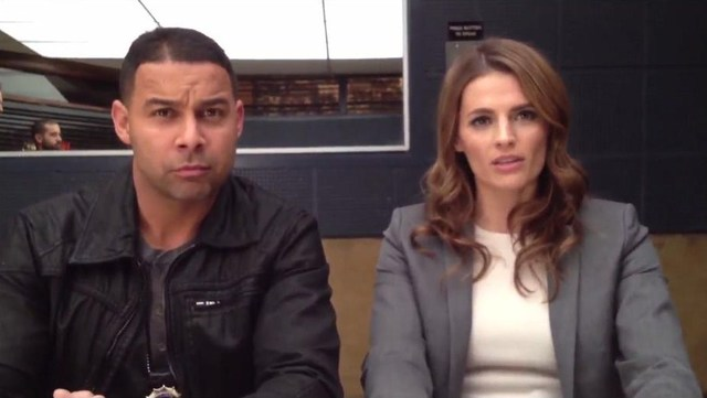 Did @Jon_Huertas just steal a kiss from @Stana_Katic?!