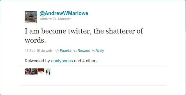 Andrew Marlowe Joins Twitter