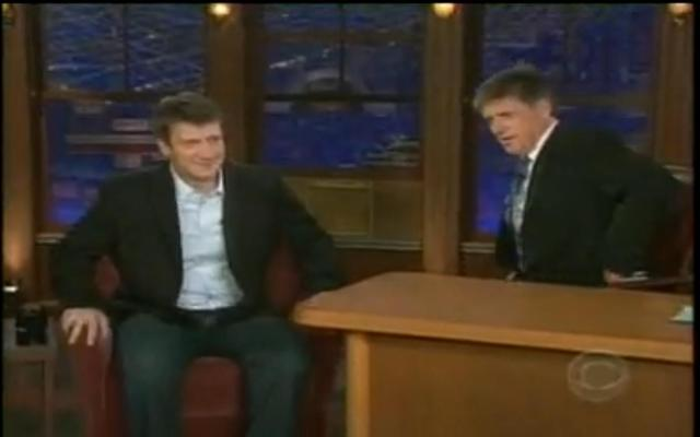 Nathan Fillion on the Late Late Show with Craig Ferguson