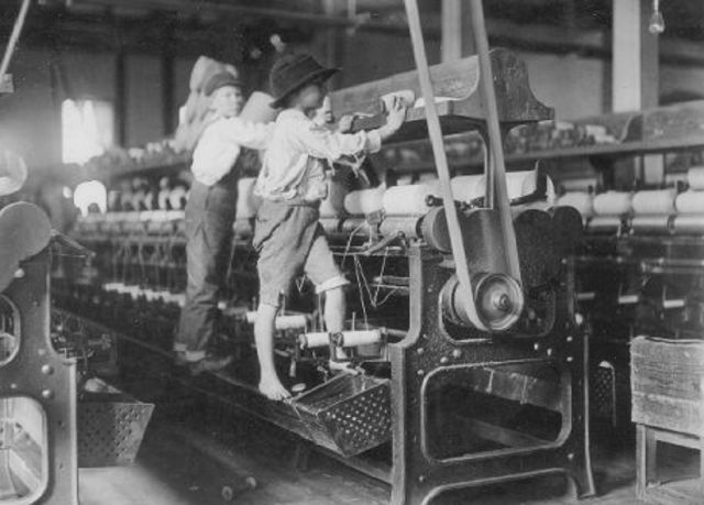Having Women and Children Work in Factories