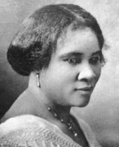 Madam C.J. Walker's birth