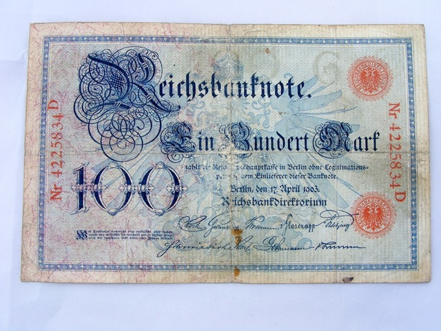 Monthly Average Circulation of Reichsbank Notes