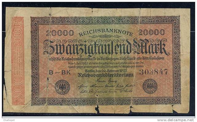 Average Monthly Circulation of Reichsbank Notes