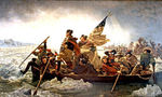 300px washington crossing the delaware by emanuel leutze, mma nyc, 1851  landscape