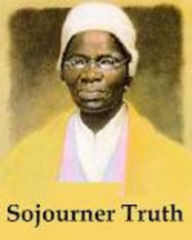 "Sojourner Truth delivers her speech, ""And Ain't I A Woman"""