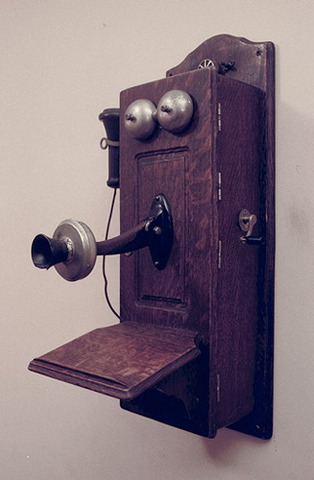 First telephone invented (for businesses only)