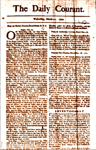 First newspaper published in the UK