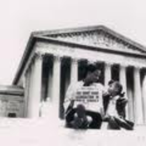 Supreme Court unanimously rules that segregation is unconstitutional