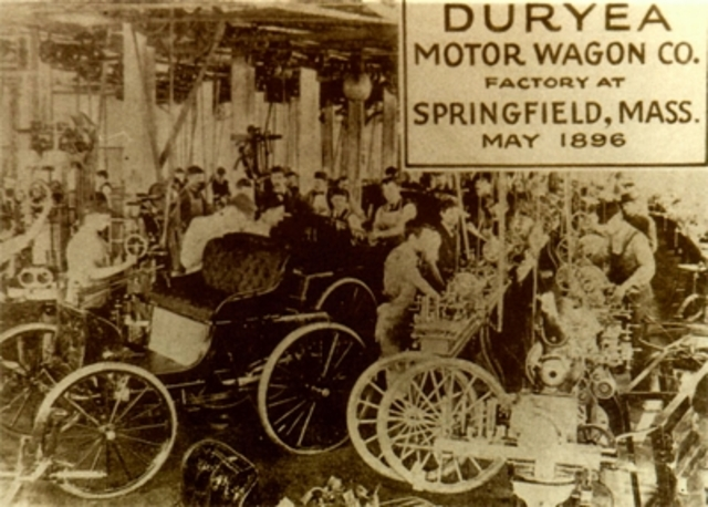 Duryea company builds first American gasoline automobile