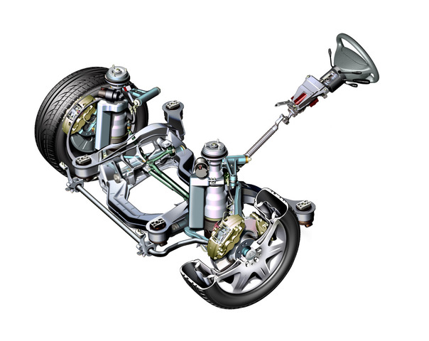 Mercedes-Benz makes independant front suspension