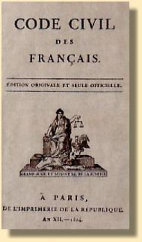 napoleonic codes The overall goal of the napoleonic code is to reform french law in line with the principles of the revolution even before the revolution, there are a lot of policies.