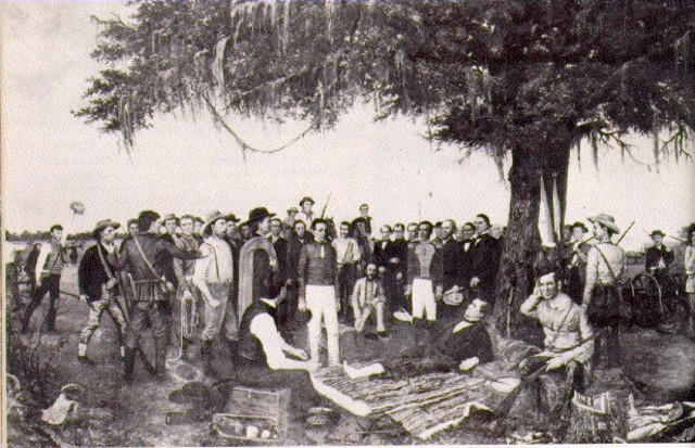 Santa Anna Signs The Treaties Of Velasco