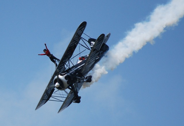 First Airshow in Columbus, Ohio After Her Injuries