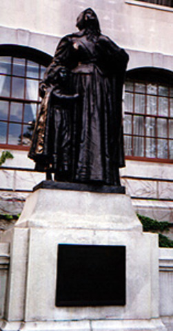 Bronze statue of Anne erected outside MA state House