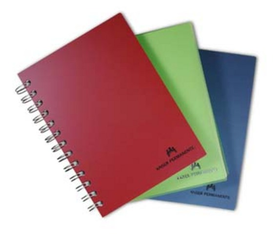 Notebooks with spiral bindings