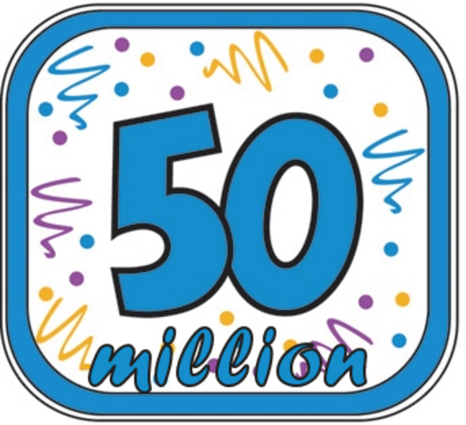 50 million blogs!