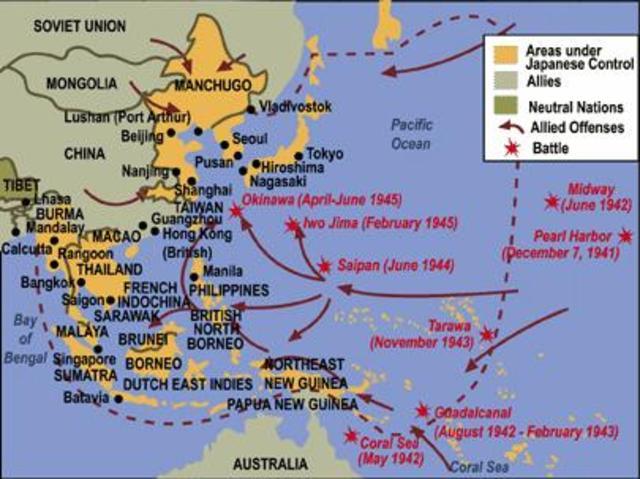 Pacific Theatre Timeline | Timetoast timelines