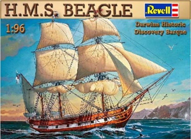 Charles Darwin left England aboard The Beagle.
