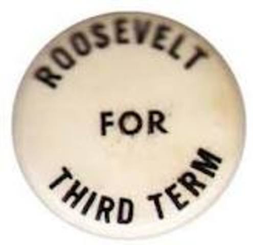 FDR re-elected for third term
