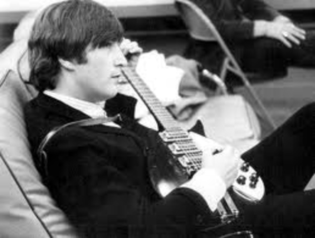 John Lennon Gets First Guitar