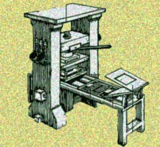 Gutenberg's Printing Press was developed