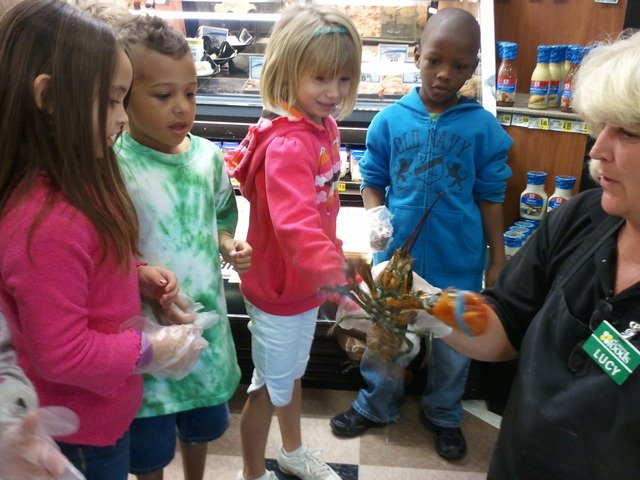Field trip to Lowe's Foods and Petco!