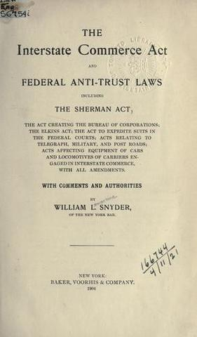 united states and interstate commerce act As the united states continued to the interstate commerce act required that railroads charge the interstate commerce commission also faced.