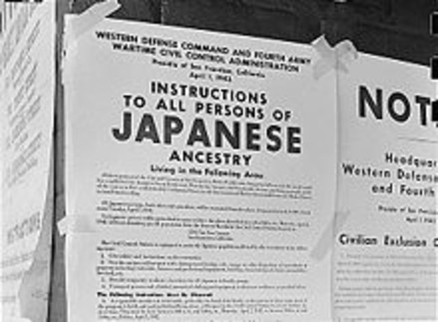 Internment of Japanese – Americans