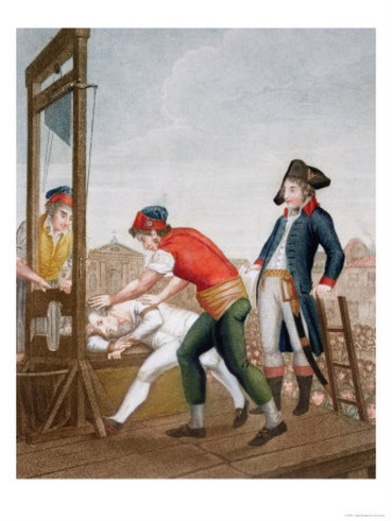 Death of Robespierre and end the terror
