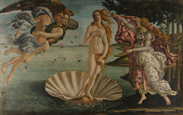 Sandro Botticelli paints the Birth of Venus